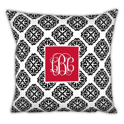 Marakesh Script Monogram Cotton Throw  Pillow