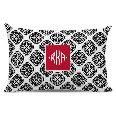 Marakesh Diamond Monogram Cotton Lumbar Pillow
