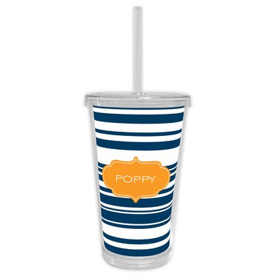 Block Island Personalized Beverage 16 oz. Plastic Travel Tumbler WFBVT04-B-W