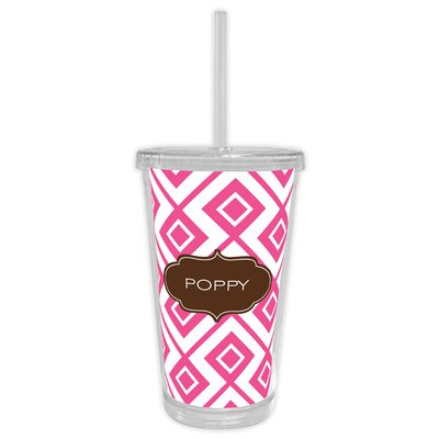 Lucy Block Personalized Beverage 16 oz. Plastic Travel Tumbler WFBVT05-B-W