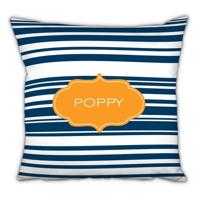 Block Island Personalized Cotton Throw Pillow
