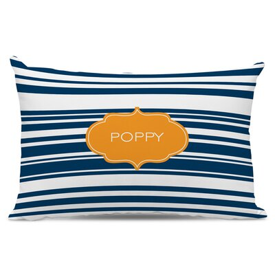 Block Island Personalized Cotton Lumbar Pillow