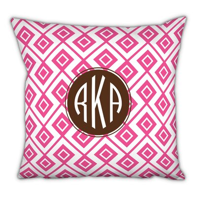 Lucy Circle Monogram Cotton Throw Pillow