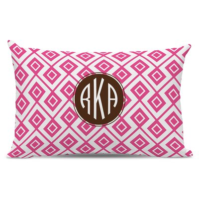 Lucy Circle Monogram Cotton Lumbar Pillow