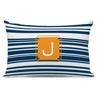 Block Island Single Initial Cotton Lumbar Pillow Letter: X