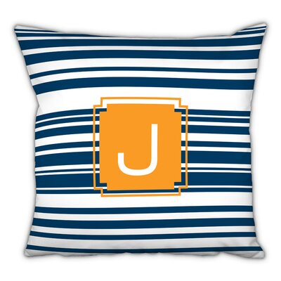 Block Island Single Initial Cotton Throw Pillow Letter: F