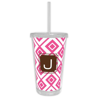 Lucy Single Initial Beverage Tumbler Letter: W