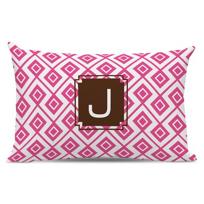 Lucy Single Initial Cotton Lumbar Pillow Letter: E
