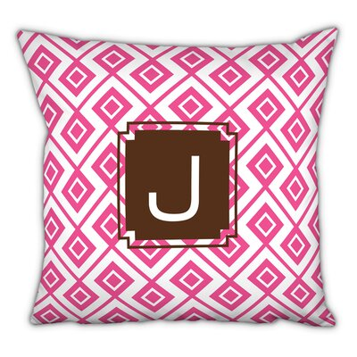 Lucy Single Initial Cotton Throw Pillow Letter: J