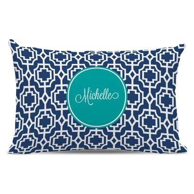 Designer Lattice Script Personalized Cotton Lumbar Pillow