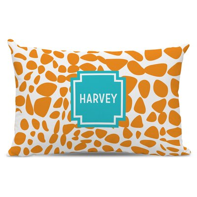 Lizard Block Cotton Personalized Cotton Lumbar Pillow