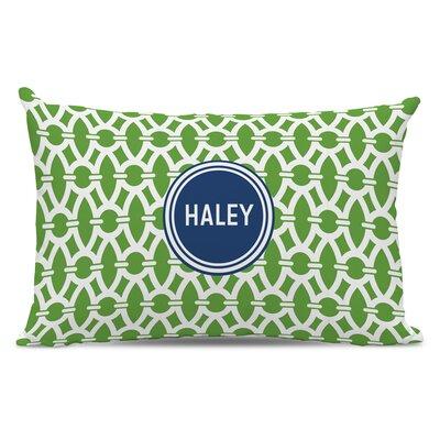 Trellis Block Personalized Cotton Lumbar Pillow