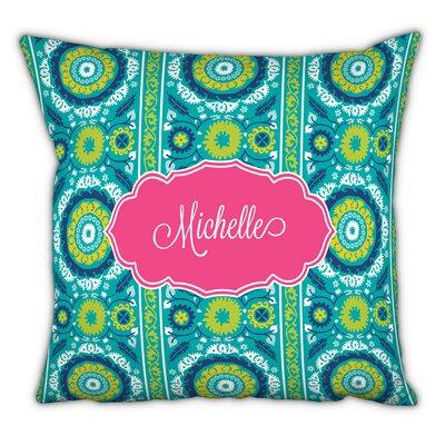 Suzani Script Personalized Cotton Throw Pillow