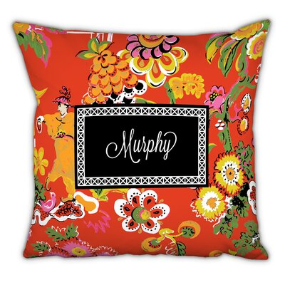 Chinois Script Personalized Cotton Throw Pillow