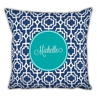 Designer Lattice Script Personalized Cotton Throw Pillow