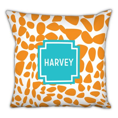 Lizard Block Personalized Cotton Throw Pillow