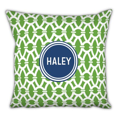 Trellis Block Personalized Cotton Throw Pillow