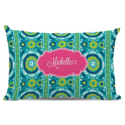 Suzani Script Personalized Cotton Lumbar Pillow