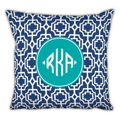 Designer Lattice Diamond Monogram Cotton Throw Pillow