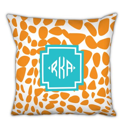 Lizard Diamond Monogram Cotton Throw Pillow