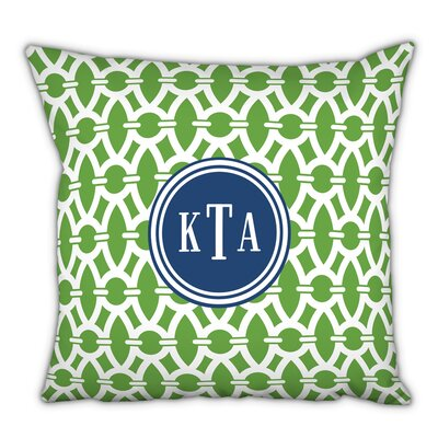 Trellis Classic Monogram Cotton Throw Pillow