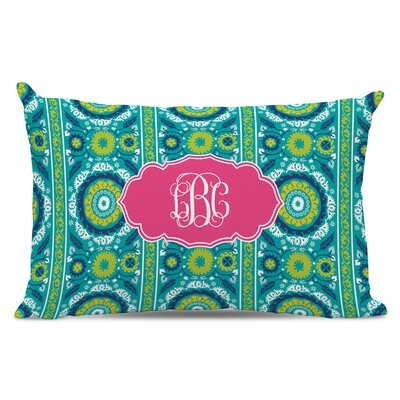 Suzani Script Monogram Cotton Lumbar Pillow