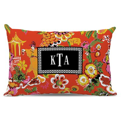 Chinois Classic Monogram Cotton Lumbar Pillow