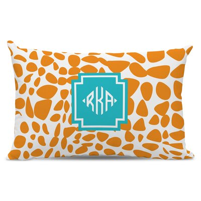 Lizard Diamond Monogram Cotton Lumbar Pillow