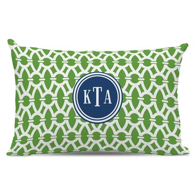Trellis Classic Monogram Cotton Lumbar Pillow