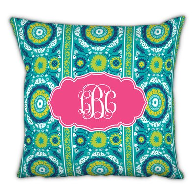 Suzani Script Monogram Cotton Throw  Pillow