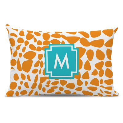 Lizard Single Initial Cotton Lumbar Pillow Letter: K