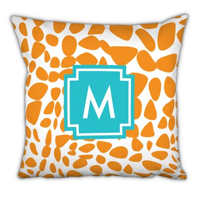 Lizard Single Initial Cotton Throw Pillow Letter: M