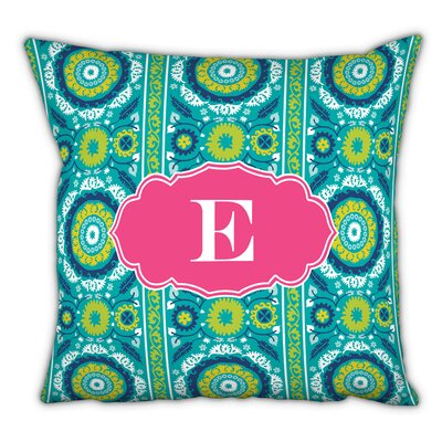 Suzani Single Initial Cotton Throw Pillow Letter: J