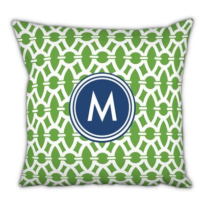 Trellis Single Initial Cotton Throw Pillow Letter: O