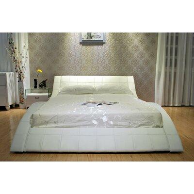 Upholstered Platform Bed Size: California King, Upholstery: White