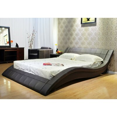 Upholstered Platform Bed Size: California King, Upholstery: Chocolate