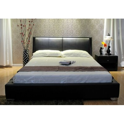 Upholstered Platform Bed Upholstery: Black, Size: Queen