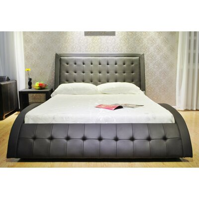 Upholstered Platform Bed Size: California King, Color: Dark Brown