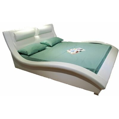 Upholstered Platform Bed Upholstery: White, Size: Queen