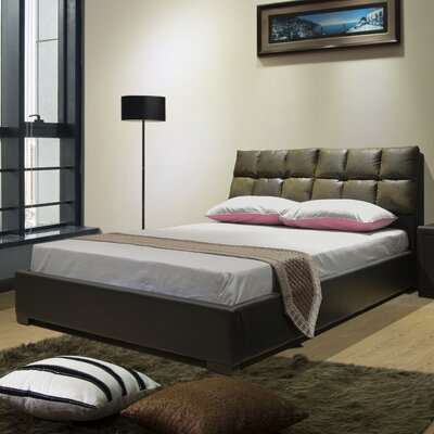 Upholstered Storage Platform Bed Size: Queen