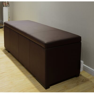 Haslett Storage Ottoman Color: Dark Brown