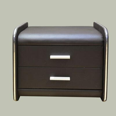 2 Drawer Nightstand Color: Dark Brown