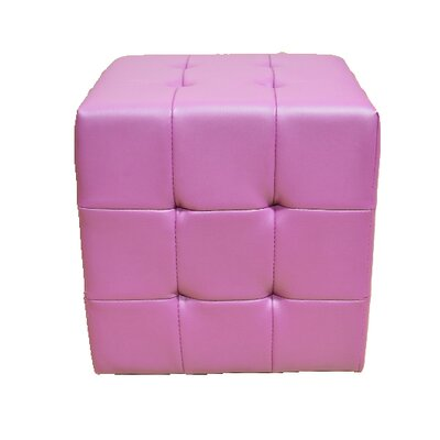 Tufted Cube Ottoman Upholstery Color: Purple