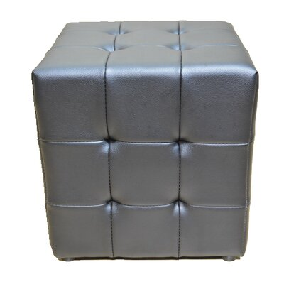 Tufted Cube Ottoman Upholstery Color: Black