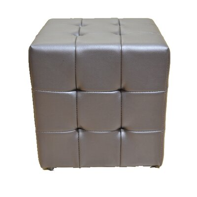 Tufted Cube Ottoman Upholstery Color: Dark Brown