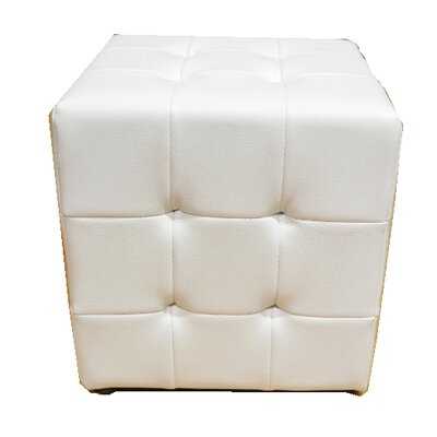 Tufted Cube Ottoman Upholstery Color: White