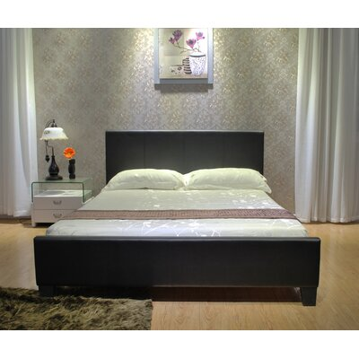 Upholstered Platform Bed Size: Full, Upholstery: Dark Brown