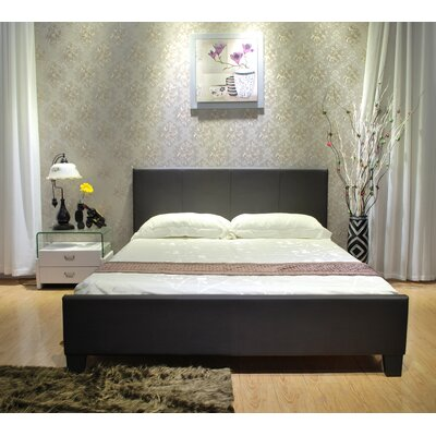 Upholstered Platform Bed Size: Twin, Color: Black