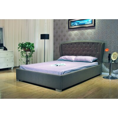 Upholstered Panel Bed Color: Gray