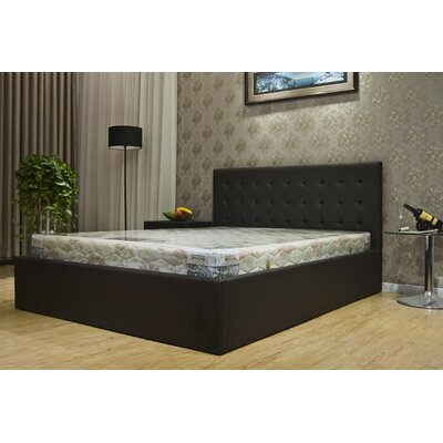 Upholstered Storage Platform Bed Upholstery: Dark Brown, Size: Queen
